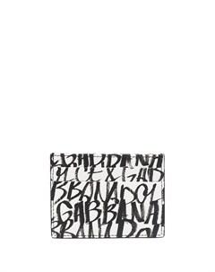 Картхолдер с принтом граффити Dolce&gabbana