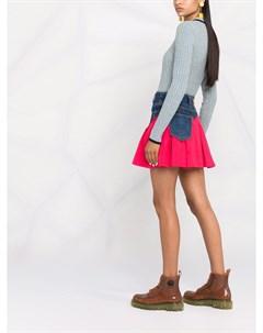 Двухцветная джинсовая юбка Pinko