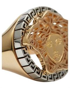 Позолоченный перстень с декором Medusa Versace