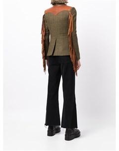 Шерстяной пиджак с контрастными вставками Dsquared2