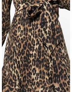 Платье мини Liv с леопардовым принтом Milly
