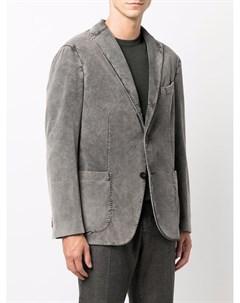 Однобортный пиджак с заостренными лацканами Boglioli