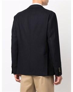 Однобортный пиджак из смесовой шерсти Lardini