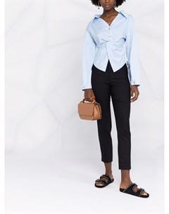 Узкие брюки с завышенной талией Twinset