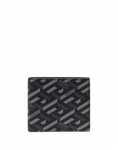 Бумажник с геометричным принтом Greca Versace