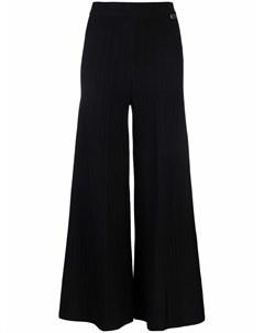 Расклешенные брюки в рубчик с эластичным поясом Twinset