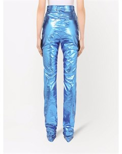Вощеные брюки с завышенной талией Dolce&gabbana