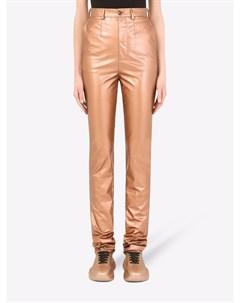 Ламинированные брюки с завышенной талией Dolce&gabbana