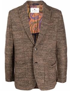 Однобортный пиджак строгого кроя Etro