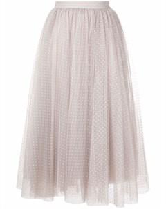 Расклешенная юбка миди из тюля Elisabetta franchi