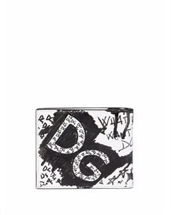 Кошелек с принтом граффити Dolce&gabbana