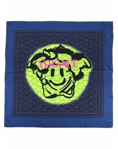 Шелковый платок с логотипом Versace