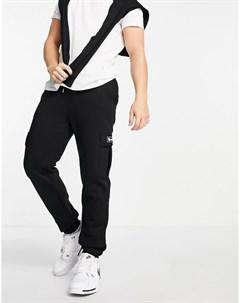 Черные джоггеры с карманом в стиле карго и логотипом Bench