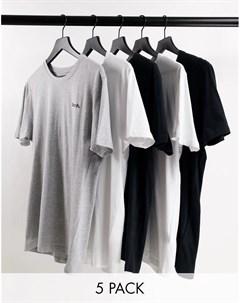 Набор из 5 черных футболок для дома Durmi Bench