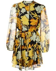 Шелковое платье мини с принтом Milly