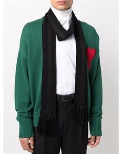 Полосатый шарф с бахромой Saint laurent