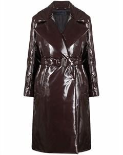 Виниловое пальто с поясом Eudon choi