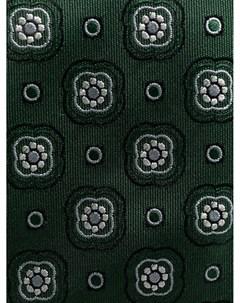 Шелковый галстук с цветочным принтом Canali