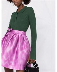 Короткая юбка с завышенной талией Msgm