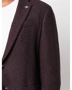 Однобортный пиджак с узором шеврон Lardini
