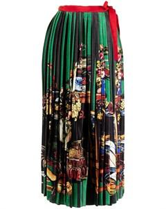 Плиссированная юбка с запахом Stella jean