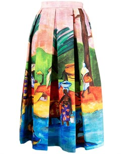 Юбка миди с принтом Gauguin Stella jean