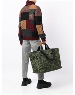 Дорожная сумка с леопардовым принтом Dolce&gabbana