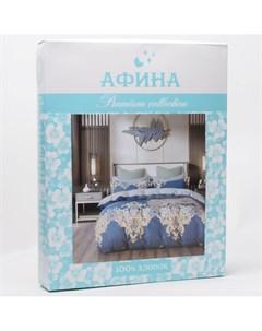 Постельное белье 2 спальный с евро простыней Afina