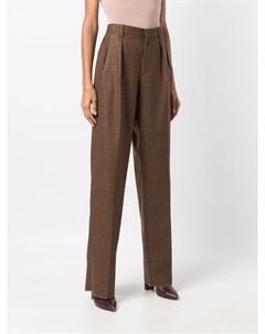 Клетчатые брюки с завышенной талией Etro