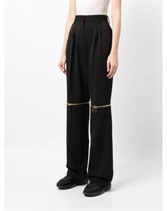 Шерстяные брюки со съемными деталями Dolce&gabbana