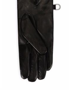 Кожаные перчатки с логотипом DG Dolce&gabbana