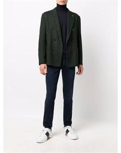 Фактурный двубортный пиджак Lardini