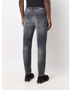 Прямые джинсы с эффектом потертости Dondup