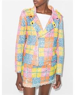 Байкерская куртка с пайетками Ashish
