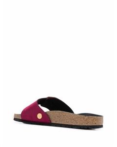 Бархатные сандалии с пряжкой Birkenstock