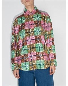 Клетчатая рубашка с пайетками Ashish