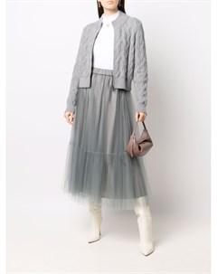 Расклешенная юбка с эластичным поясом Fabiana filippi