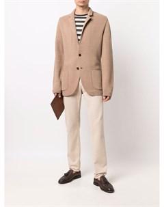 Однобортный пиджак с заостренными лацканами Lardini