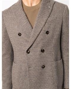 Двубортный пиджак в рубчик Lardini