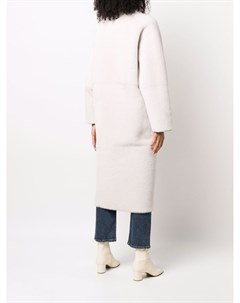 Двустороннее двубортное пальто Blancha