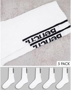 Набор из 5 пар белых спортивных носков Crescendo Bench