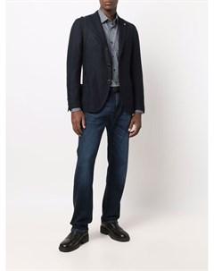 Однобортный пиджак строгого кроя Lardini