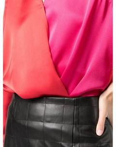Двухцветная блузка с запахом Milly