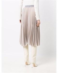 Плиссированная юбка с завышенной талией Fabiana filippi