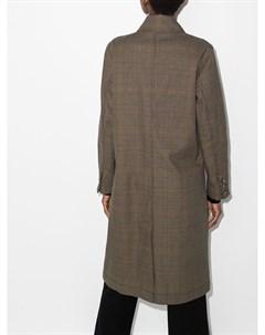 Однобортное пальто в клетку глен Lee mathews