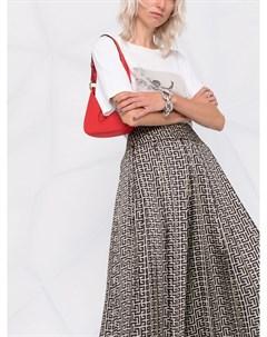 Плиссированная юбка с монограммой Balmain