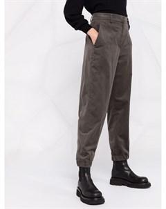 Прямые брюки с завышенной талией Brunello cucinelli