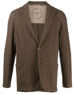 Однобортный пиджак в клетку Circolo 1901