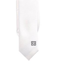 Шелковый галстук с вышитым логотипом 4G Givenchy