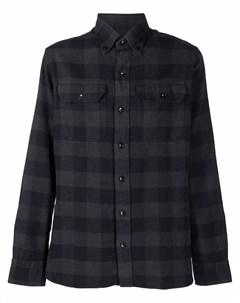 Клетчатая рубашка на пуговицах Tom ford